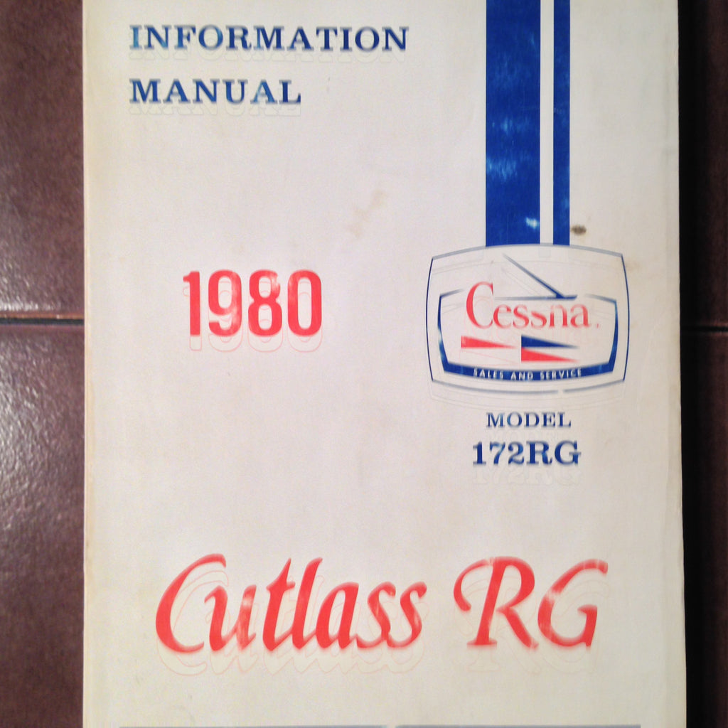 1980 Cessna 172RG Pilot's Information Manual.