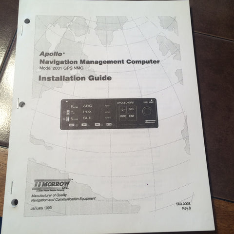 Apollo 2001 GPS NMC Nav Management Computer Install Manual
