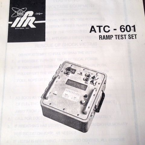 Original Factory Issued, IFR ATC-601 Ramp Test Set Operation Manual.