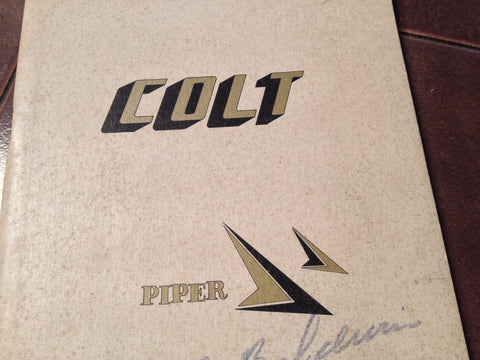 1962 - 1965 Piper Colt PA-22-108 Owner's Manual.