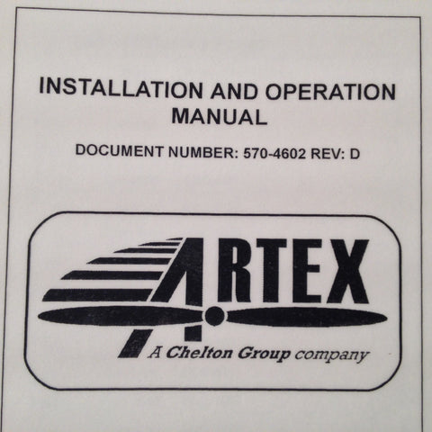 Artex 453-6500 ELT-Nav Interface Installation & Operation Manual.