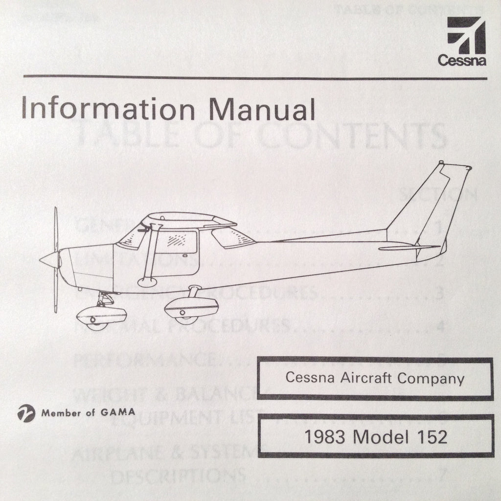 1983 Cessna 152 Pilot's Information Manual.