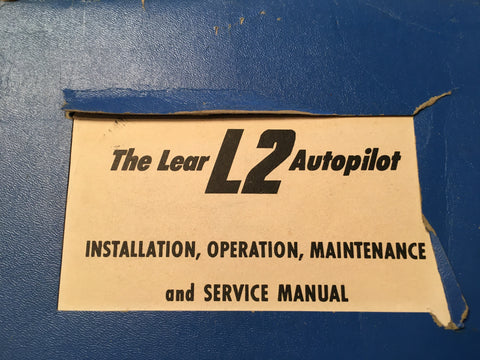 Lear L2 Autopilot Install, Operation & Service Manual.