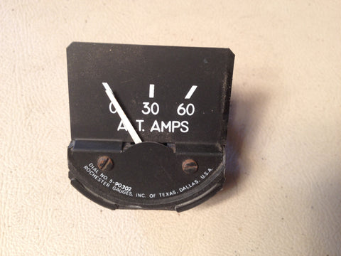 Alternator Amps Gauge, Rochester 5-90302.