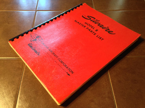 Luscombe Silvaire Model 8, 8A Parts Manual.