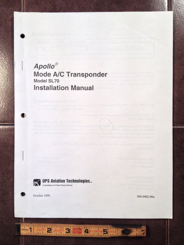 UPS Apollo SL70 install manual.