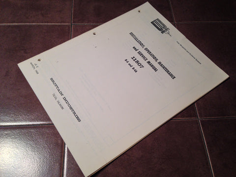 Brittain Autopilot B-4 and B-4A Install Operation & Service Manual.  Circa 1968.