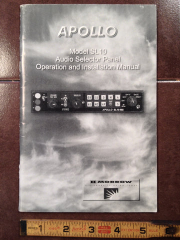 IIMorrow Apollo SL10 Audio Operation & Install Booklet.