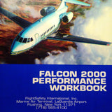 Falcon 2000 Performance Workbook Pilot Training Manual.  Circa 1995.