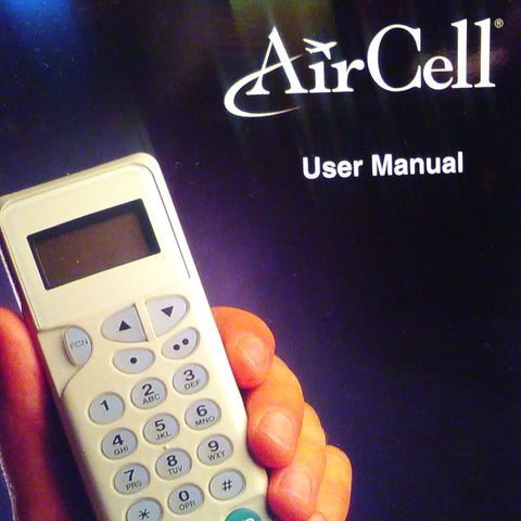 AirCell Airborne Phone User Manual.  Circa 1999-2000.