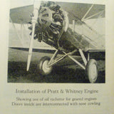 Pratt & Whitney Wasp Series C,  R-1340-A, B & C Engines Technical Handbook.  Circa 1929.