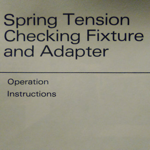 Bendix 11-6260 Fixture & 11-6265 Adapter Operating Instructions Booklet.  Circa 1967.