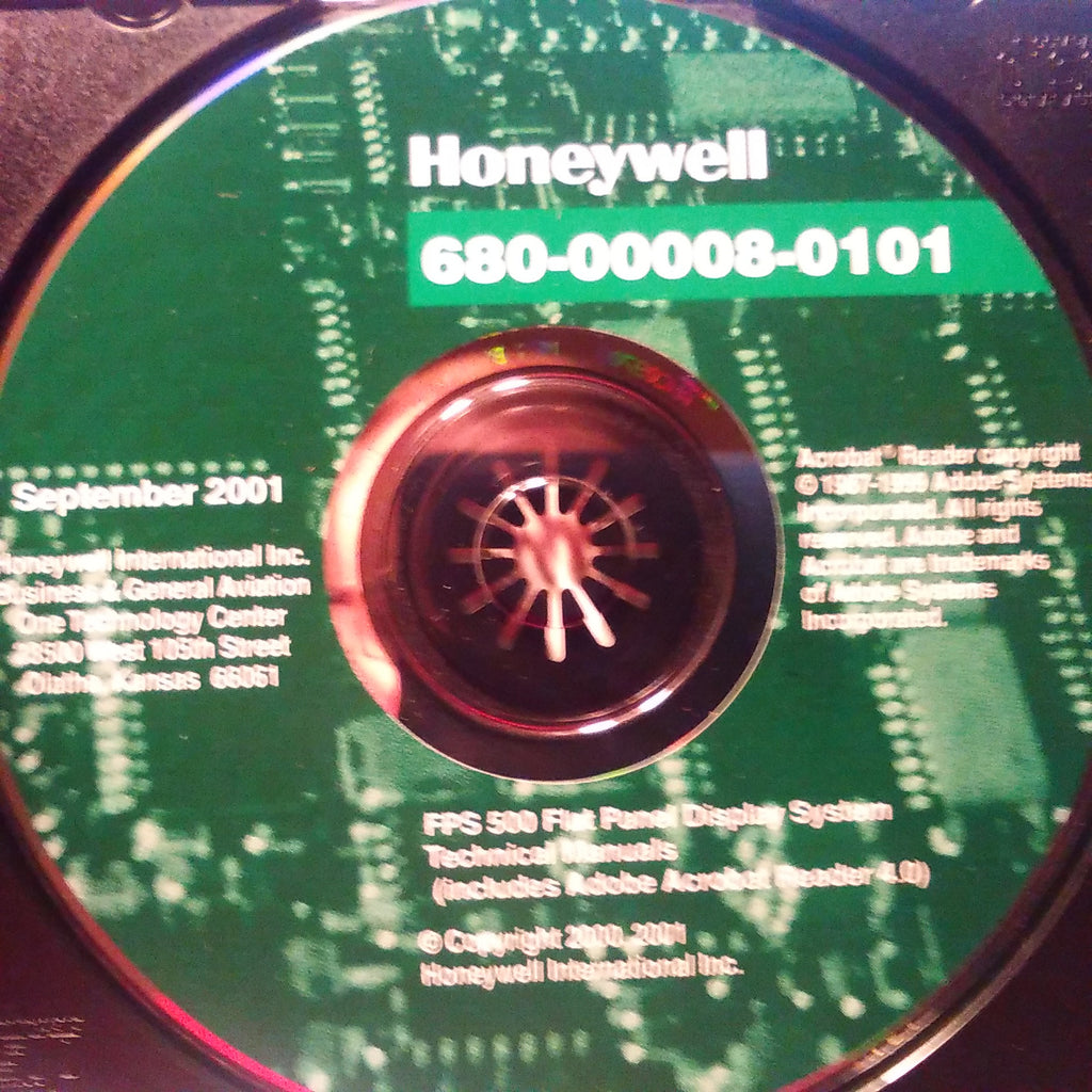 FPS-500 Flat Panel Technical Manuals on CD, kpn 680-00008-0101.  Circa 2001.