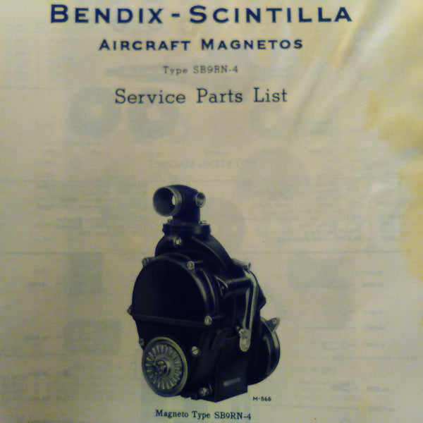 bendix scintilla sb9rn 4 magneto parts booklet circa 1943. Black Bedroom Furniture Sets. Home Design Ideas