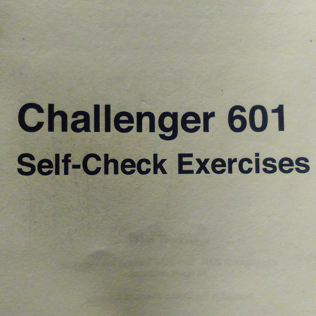 CAE SimuFlite Challenger 601 Self-Check Exercises Booklet.  Circa 2001.