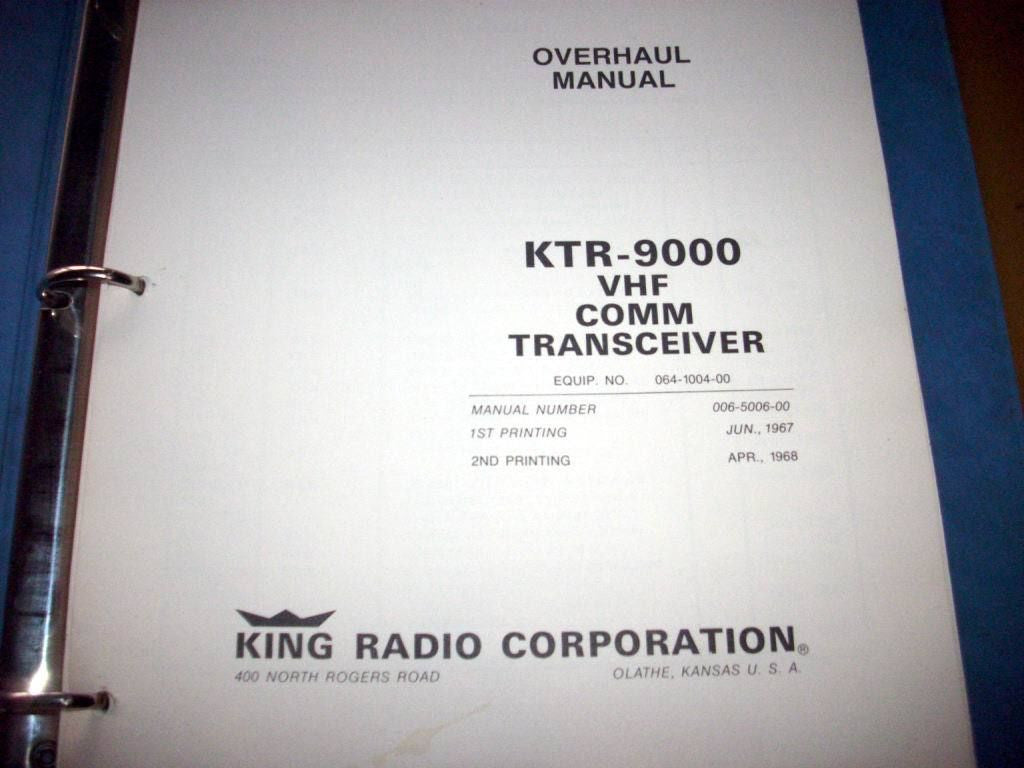 King KTR 9000 Comm Service manual