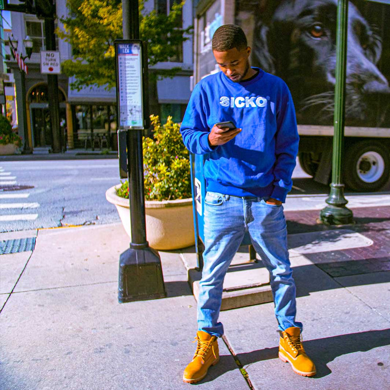 Sicko Royal Blue Crewneck Sweatshirt - SiCKO Clothing