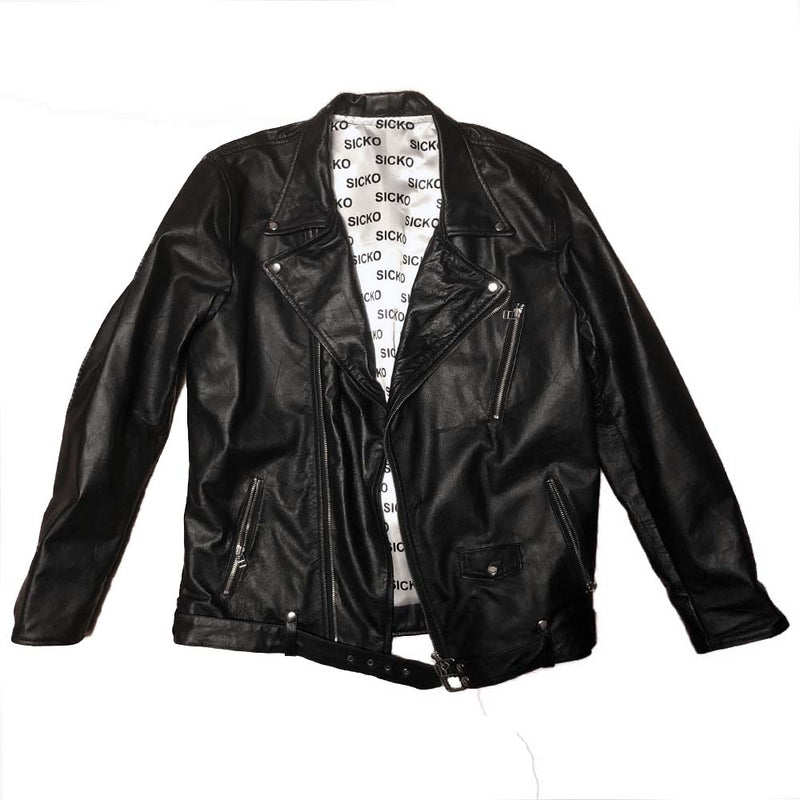 Men Sicko Leather Jacket - SiCKO Clothing