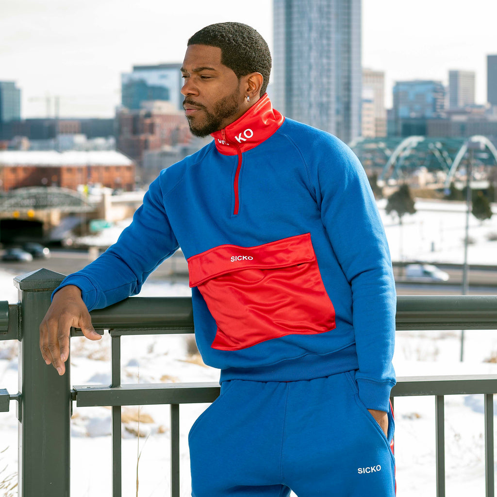 SICKO® Red & Blue Pull Over - SiCKO Clothing