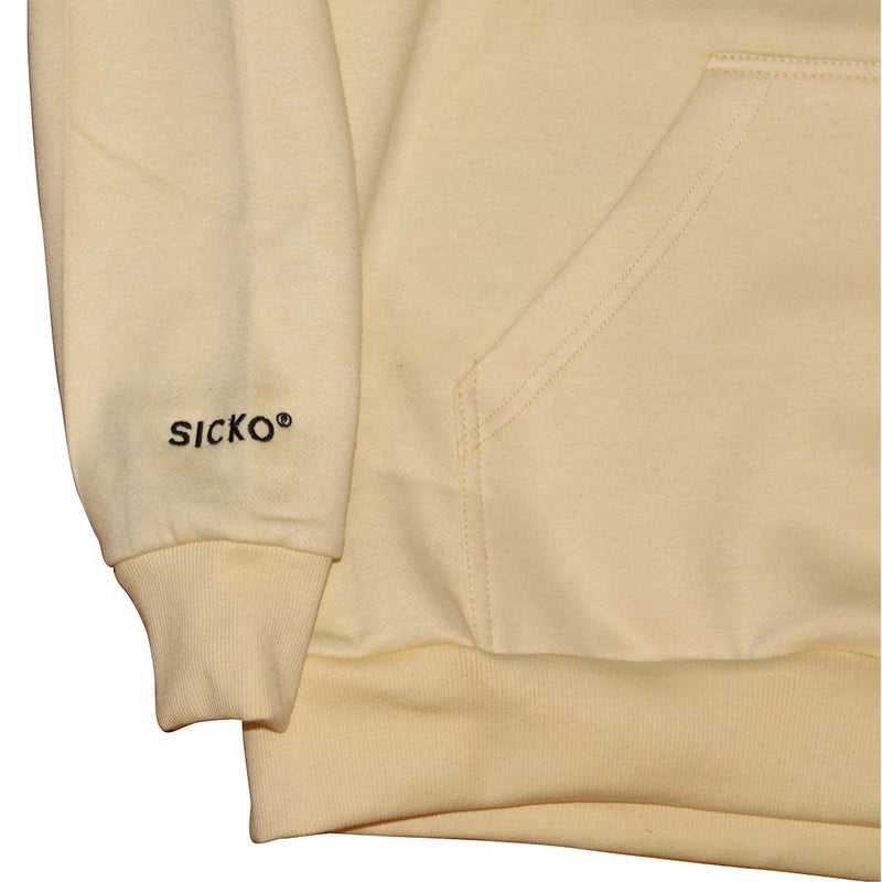 SICKO® Cream Embroidered Hoodie  - SiCKO Clothing