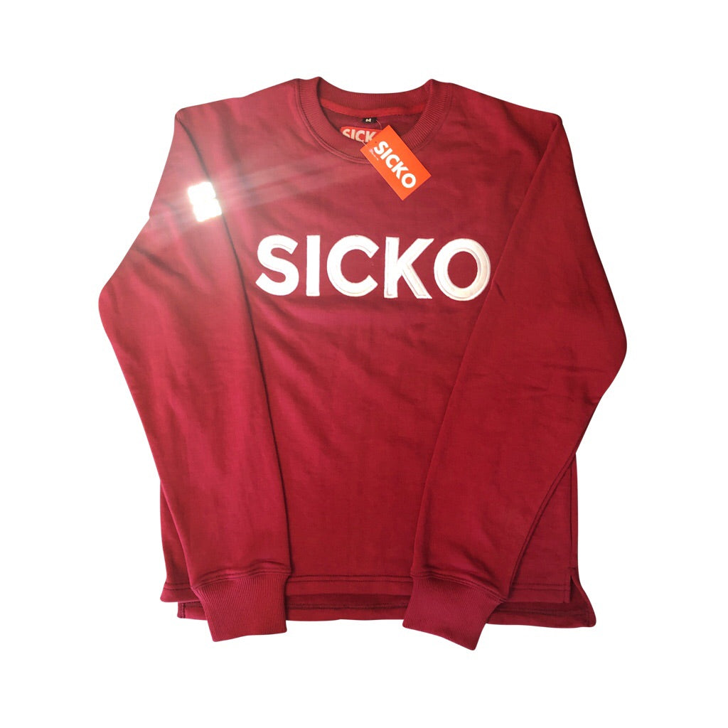 Terry Fleece Long- Sleeve Sicko Shirt - SiCKO Clothing