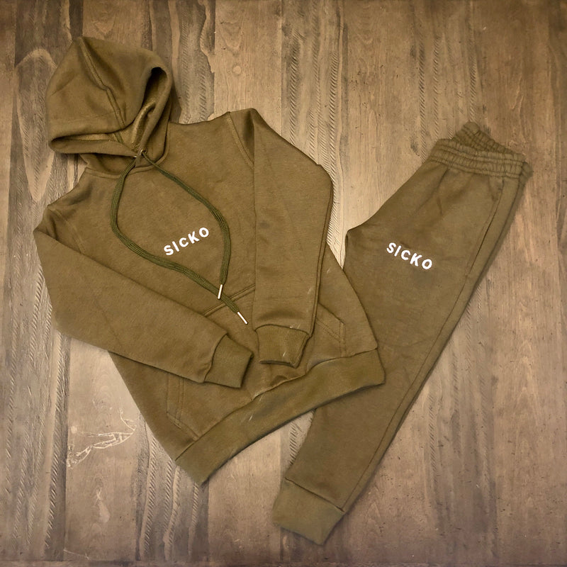 SiCKO KiDS Green Sweatsuit ***Pre- Order*** - SiCKO Clothing