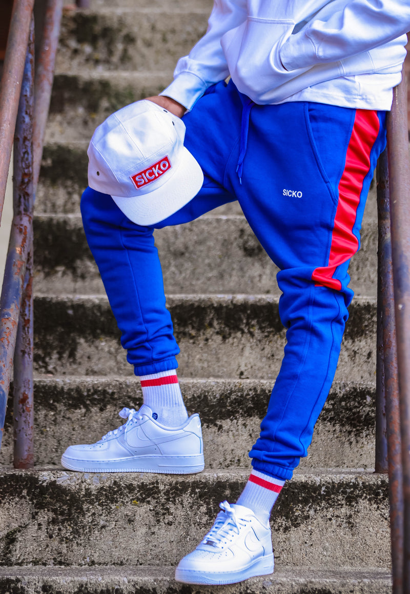 SICKO® Red & Blue Joggers - SiCKO Clothing