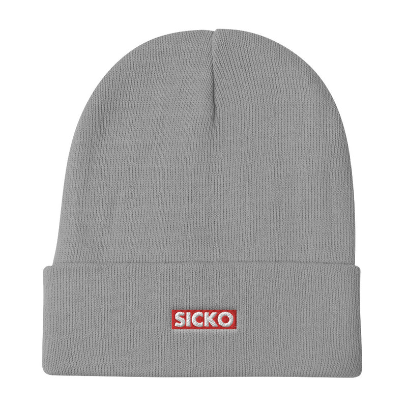 SICKO Box Logo Embroidered Beanie - SiCKO Clothing