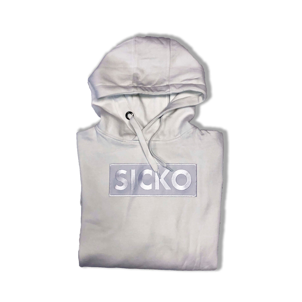 White SICKO Embroidered Logo Chest Hoodie - SiCKO Clothing