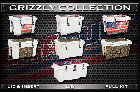 USATuff Cooler Wrap Cooler Skin forGrizzly Collection