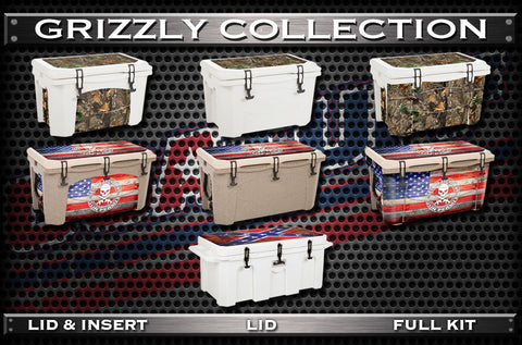 Decals For GRIZZLY Coolers - Custom GRIZZLY Cooler - Polaris GRIZZLY Cooler Accessories