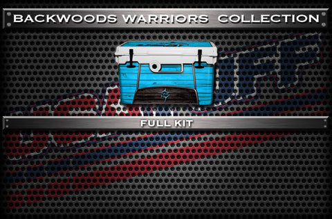 Decals For Backwoods Warriors Coolers - Custom Backwoods Warriors Cooler