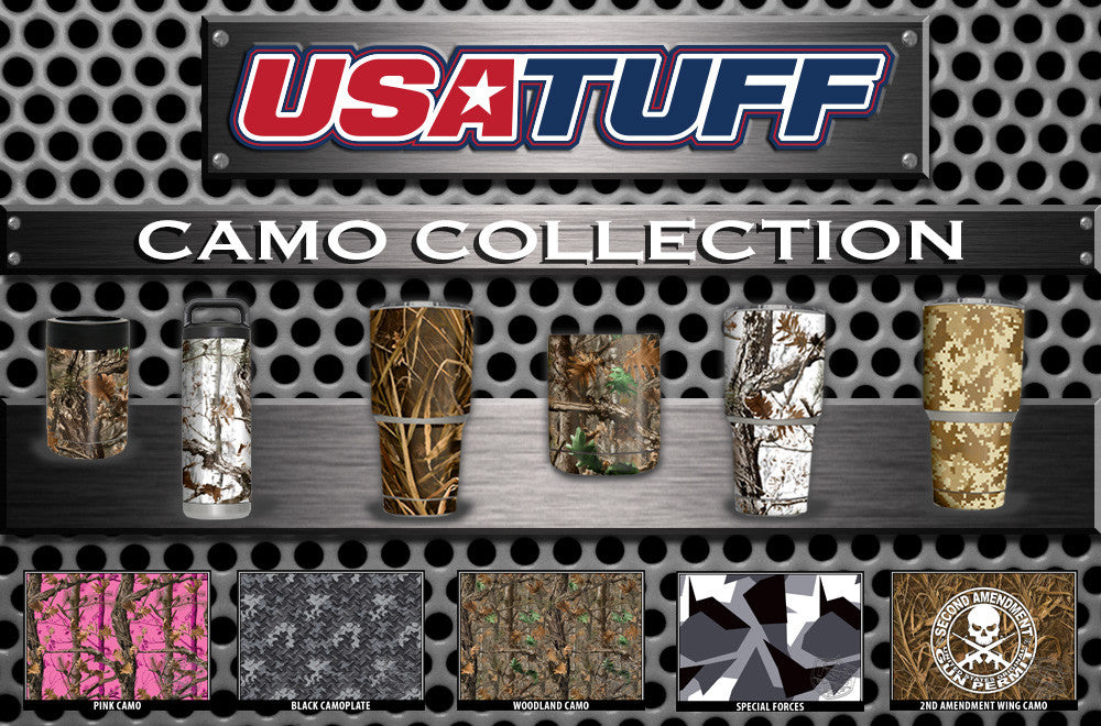 USATuff YETI Cup RTIC Cup Decal Skins For Tumblers Camouflage Collection