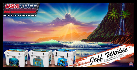 USA Tuff Cooler Ice Chest Graphics Jeff Wilkie Signature Series