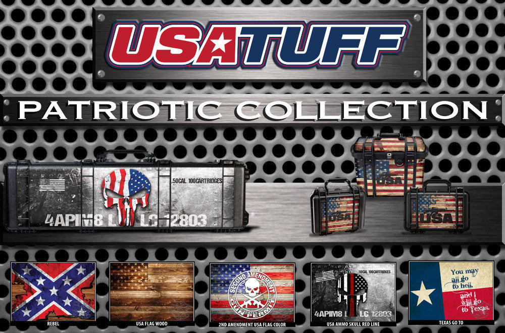 Pelican Gun Case Wrap Decal Kits by USATuff- Patriotic 2nd Amendment Rights Collection