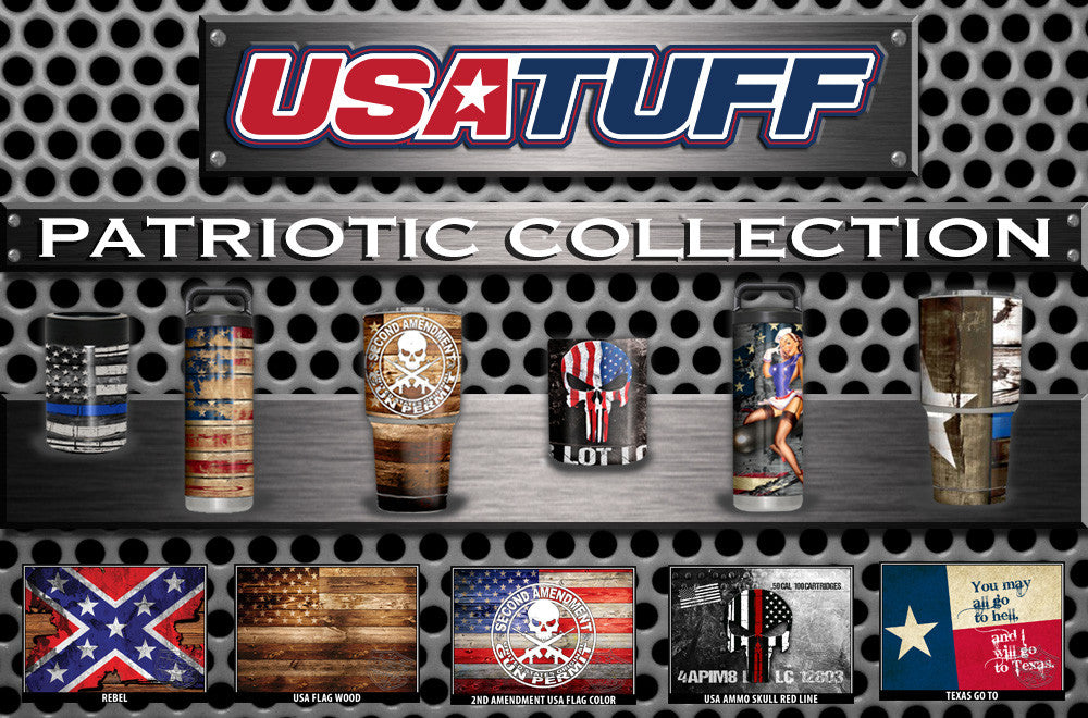 USATuff YETI Cup RTIC Cup Decal Skins For Tumblers Patriotic Collection