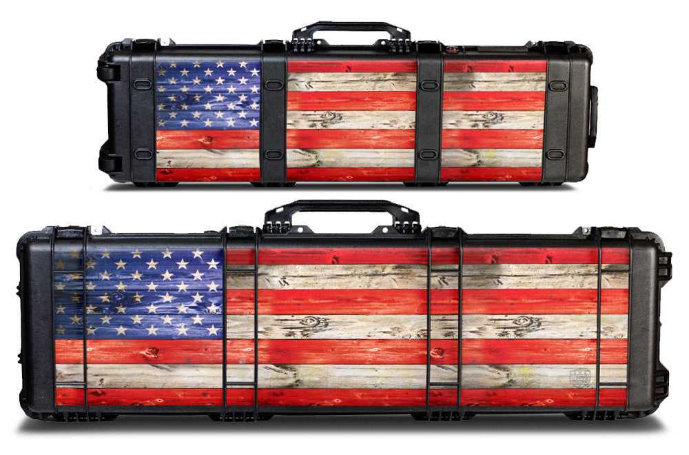 Pelican Gun Case Wrap Decal Kit by USATuff - USA Flag Color