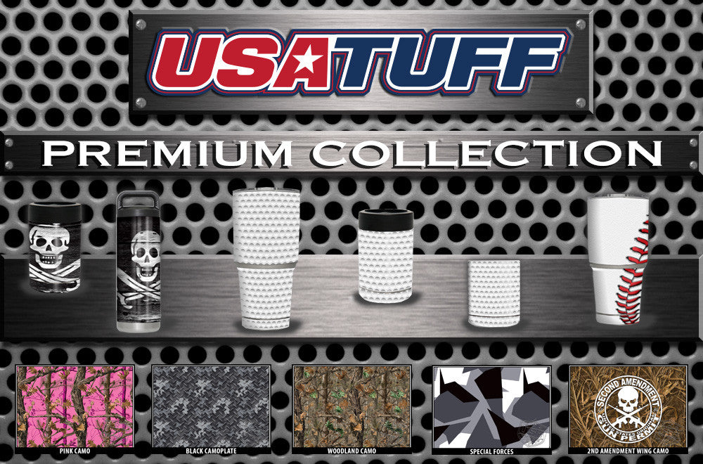 USATuff YETI Cup RTIC Cup Decal Skins For Tumblers Premium Collection