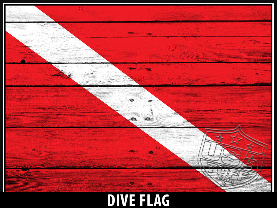 USATuff Yeti Cup Rtic Cup Dive Flag Design Decal Skin Wrap
