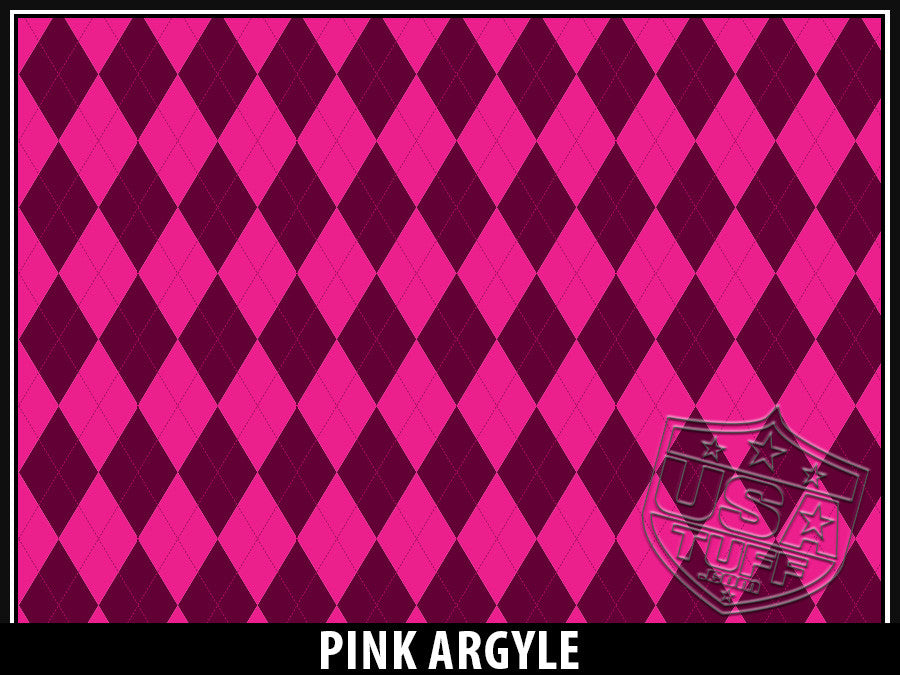 USATuff Yeti Cup Rtic Cup Pink Argyle Design Decal Skin Wrap