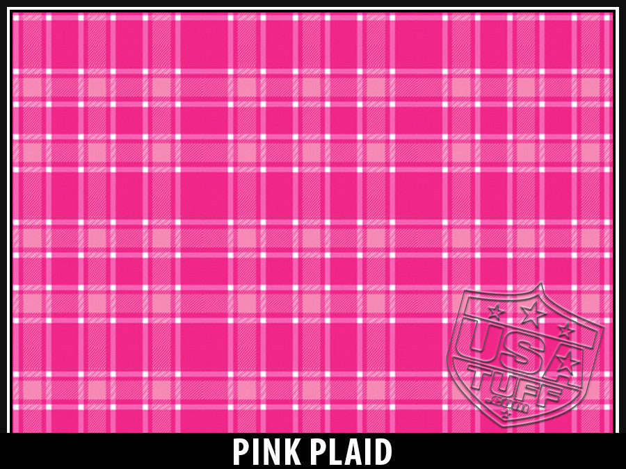 USATuff Yeti Cup Rtic Cup Pink Plaid Design Decal Skin Wrap