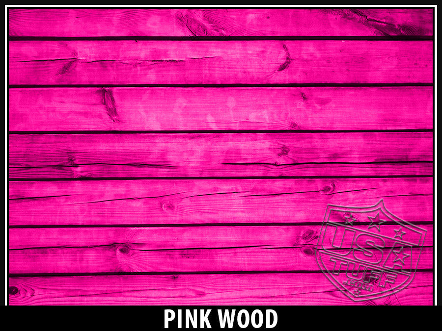 USATuff Yeti Cup Rtic Cup Pink Wood Design Decal Skin Wrap