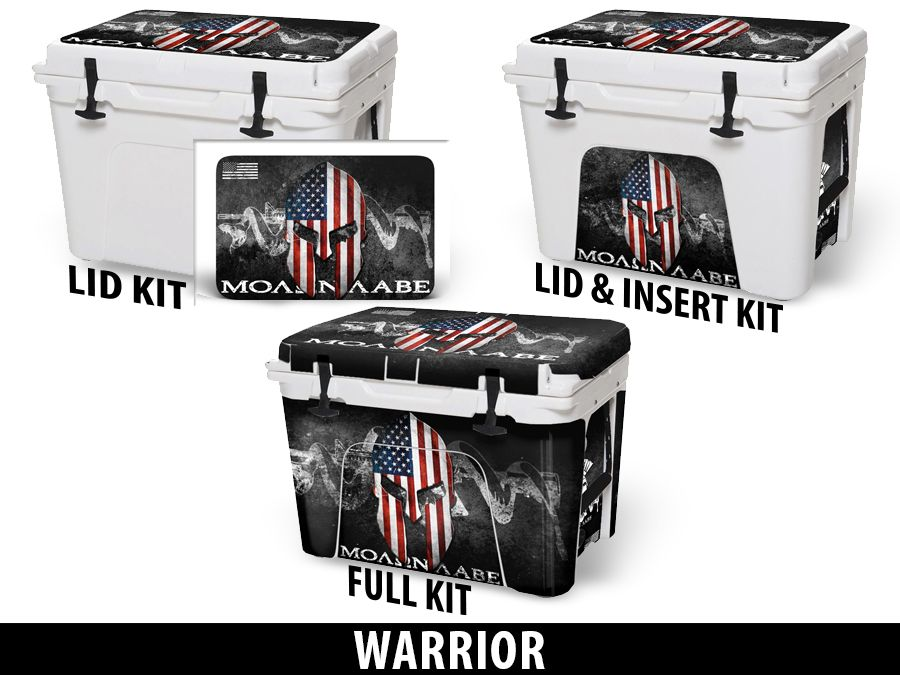 USATuff Cooler Accessories Ice Chest Graphic Sticker Decal Kits - Warrior