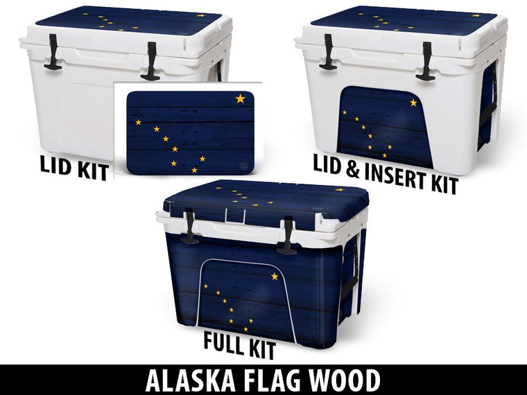 USATuff Cooler Accessories Ice Chest Graphic Sticker Decal Kits - Alaska