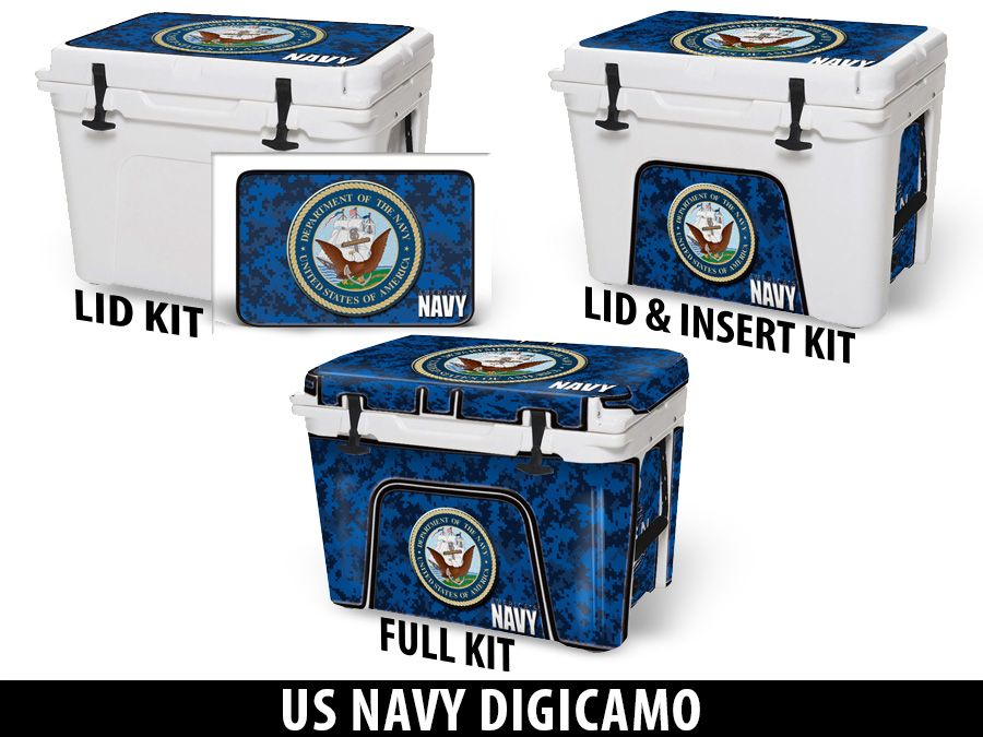 USATuff Cooler Accessories Ice Chest Graphic Sticker Decal Kits - US Navy Digicamo