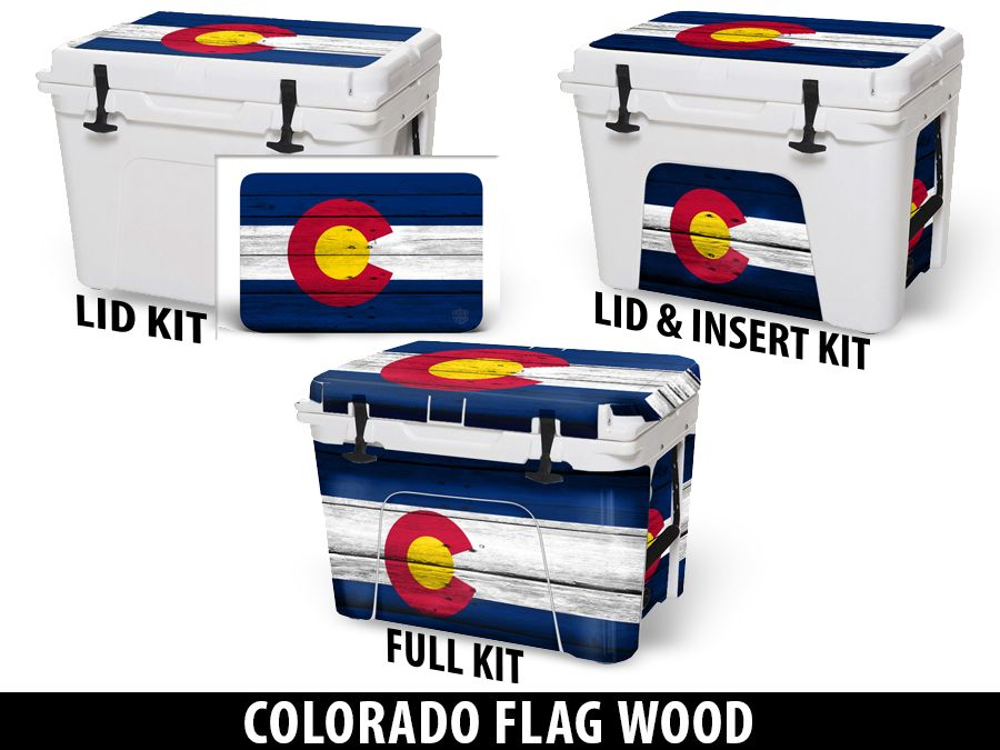 USATuff Cooler Accessories Ice Chest Graphic Sticker Decal Kits - Colorado