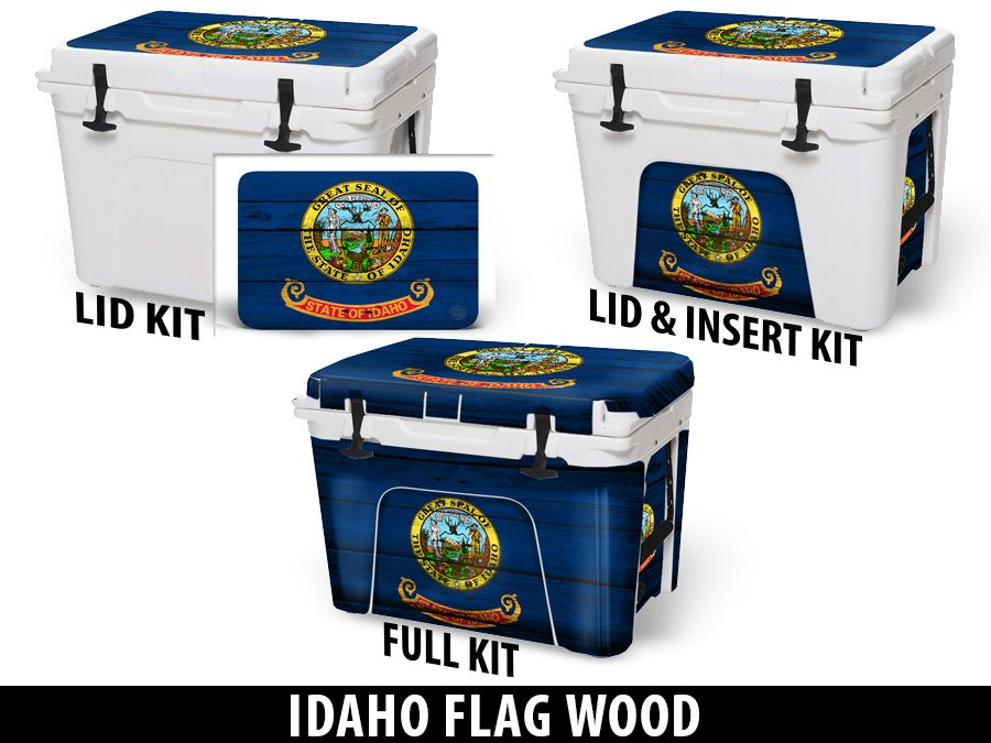 USATuff Cooler Accessories Ice Chest Graphic Sticker Decal Kits - Idaho