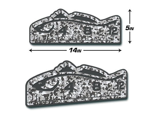 "Fish Ruler 12"" REDFISH Snow Camo/Dark Gray"