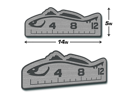 "Fish Ruler 12"" REDFISH Storm Gray/Dark Gray"