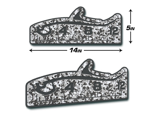 "Fish Ruler 12"" TARPON SnowCamo/Dark Gray"